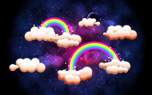 Retro Rainbow Photoshop Tutorials