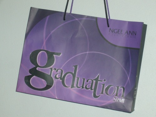Wayfinding and Typographic Signs - graduation-bag