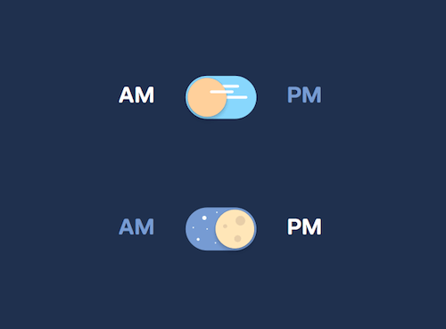 Pure CSS Day And Night Toggle