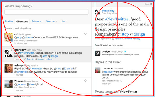 golden ratio of twitter redesign