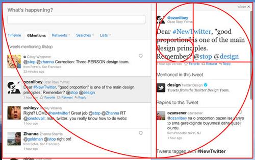golden ratio of twitter redesign