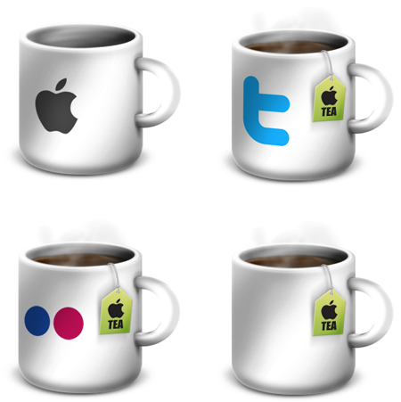 Free Icon Sets - Apple Mug Icons and Extras