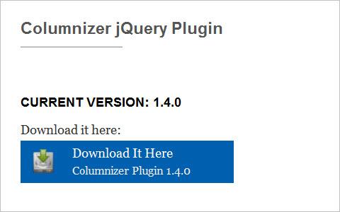 Columnizer jQuery Plugin