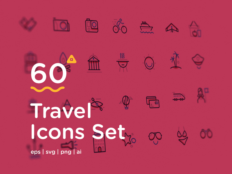 Travel icons cover shot