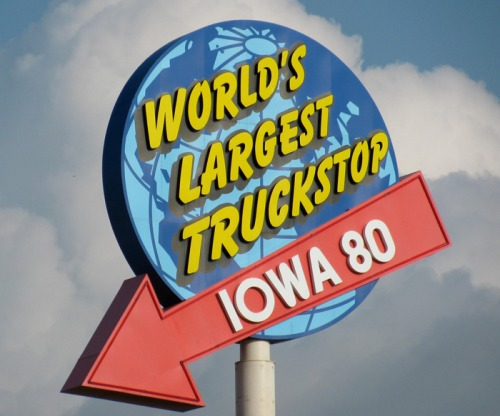 Wayfinding and Typographic Signs - worlds-largest-truck-stop