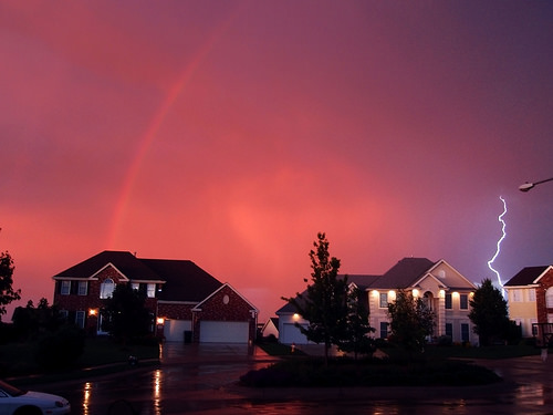 Rainbow and Lightning