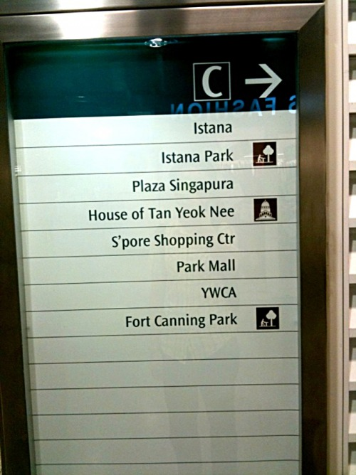 Wayfinding and Typographic Signs - places-of-interest