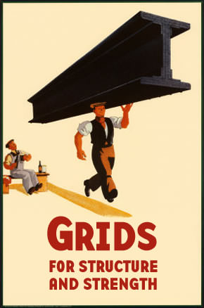 Grids for structure and strength
