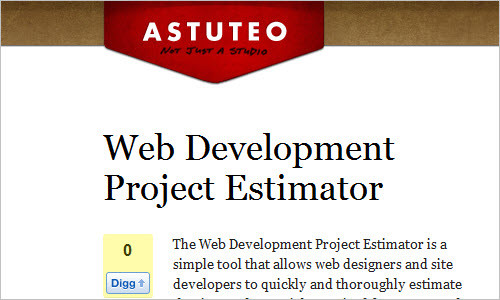 Web Development Project Estimator