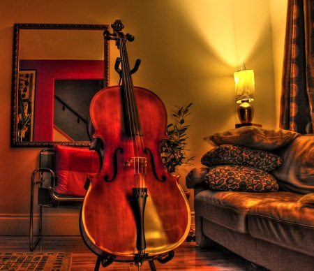HDR Photos - Home_is_where_the_cello_is