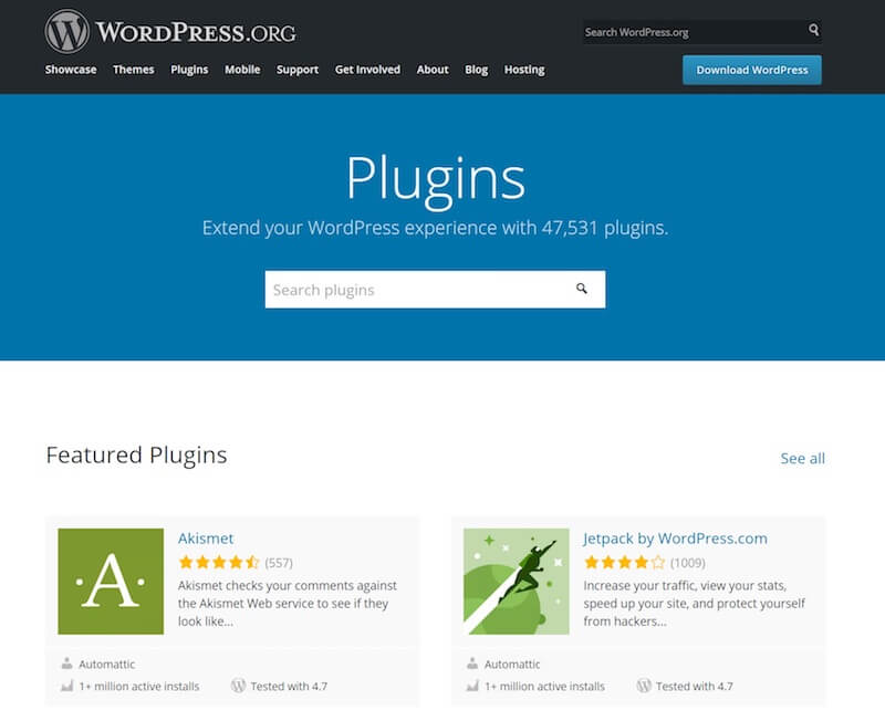 WordPress plugin repository.