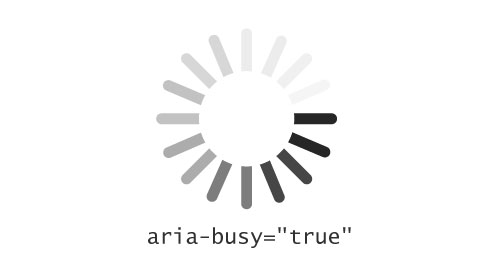 Typical loading spinner labelled ARIA atomic true