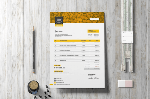 Invoice Template Retro 03