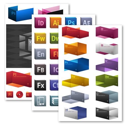 Adobe CS5 branding (made with Fireworks)