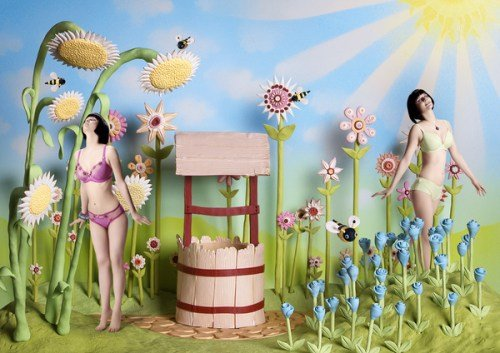 Freya Lingerie in Plasticine Art Showcase