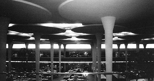 Dendriform columns in the Johnson Wax Administration Building