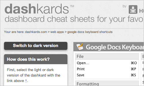 Dashkards for Mac