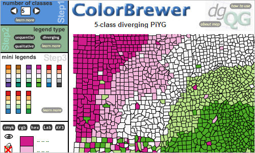 ColorBrewer Intro - Selecting Good Color Schemes for Maps