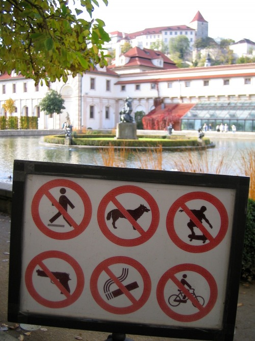 Wayfinding and Typographic Signs - park-restricted-activities-sign