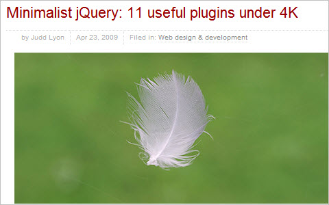 Minimalist jQuery: 11 useful plugins under 4K