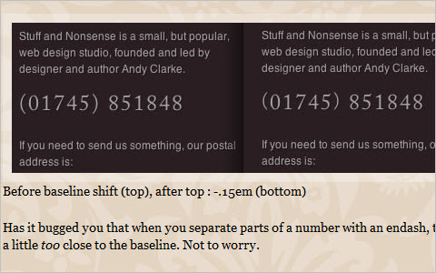 Improve your web typography with baseline shift
