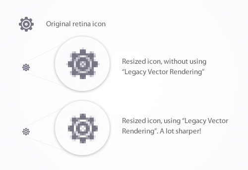Using Legacy Vector Rendering to sharpen icons in Fireworks