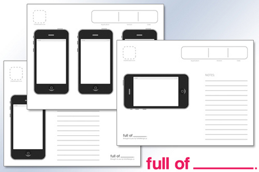 Free wireframing kits ui design kits pdfs and resources for Storyboard template app