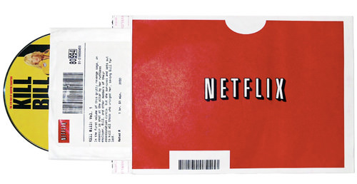 Hey Bob, where did you rent that DVD from? Netflix's packaging increased the visibility of the product.
