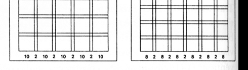 Bottom end of an example of a grid wireframe
