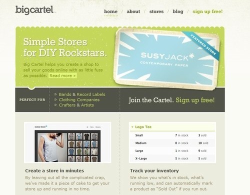 Retro and Vintage Designs - Big Cartel » Bringing the Art to the Cart