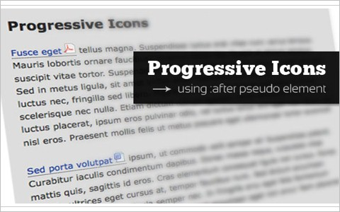 Add Progressive Icons to Your Site Using :after pseudo-element