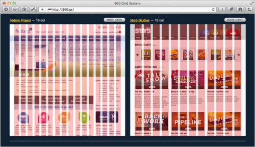 Examples of 960 grid being used to produce very different designs