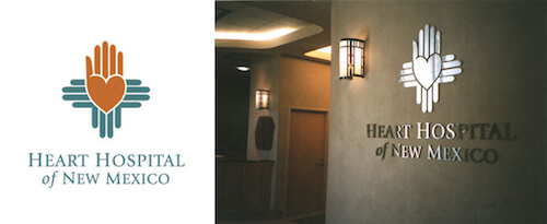 The Heart Hospital of New Mexico's logo.