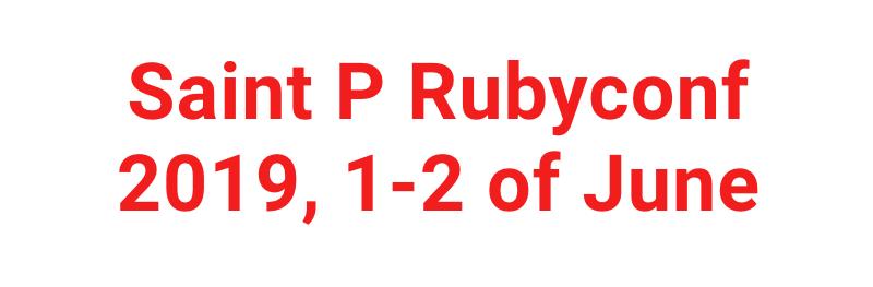 Saint P Rubyconf 2019