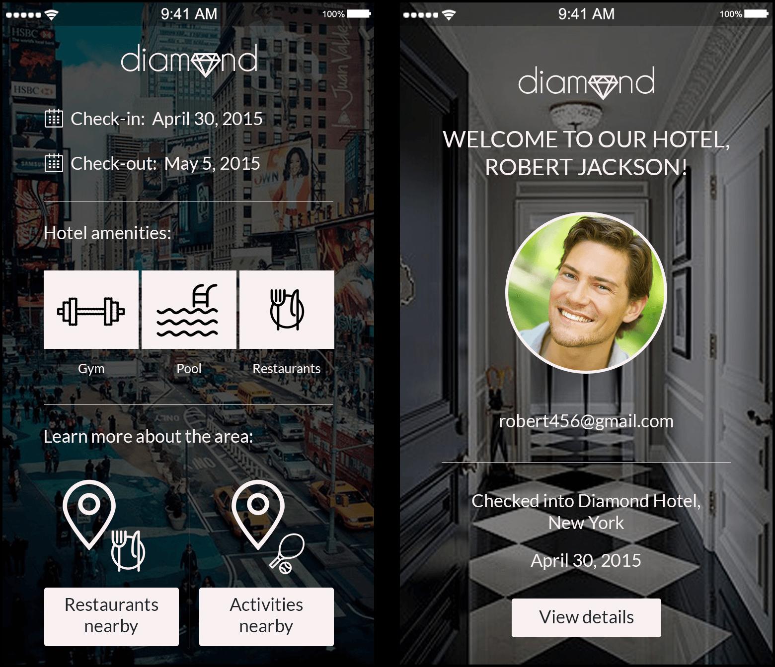 Hotel app prototype