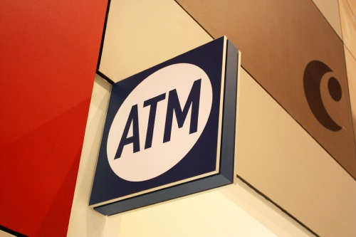 Wayfinding and Typographic Signs - atm-signage-at-shopping-centre