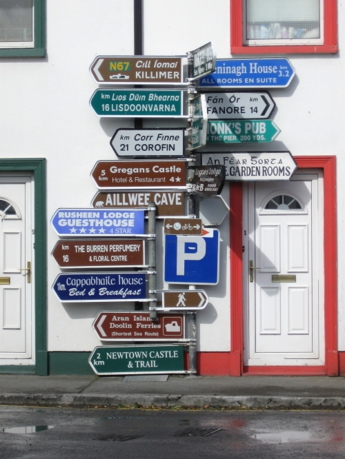 Wayfinding and Typographic Signs - ballyvaughan