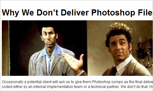 Why We Don't Deliver Photoshop Files