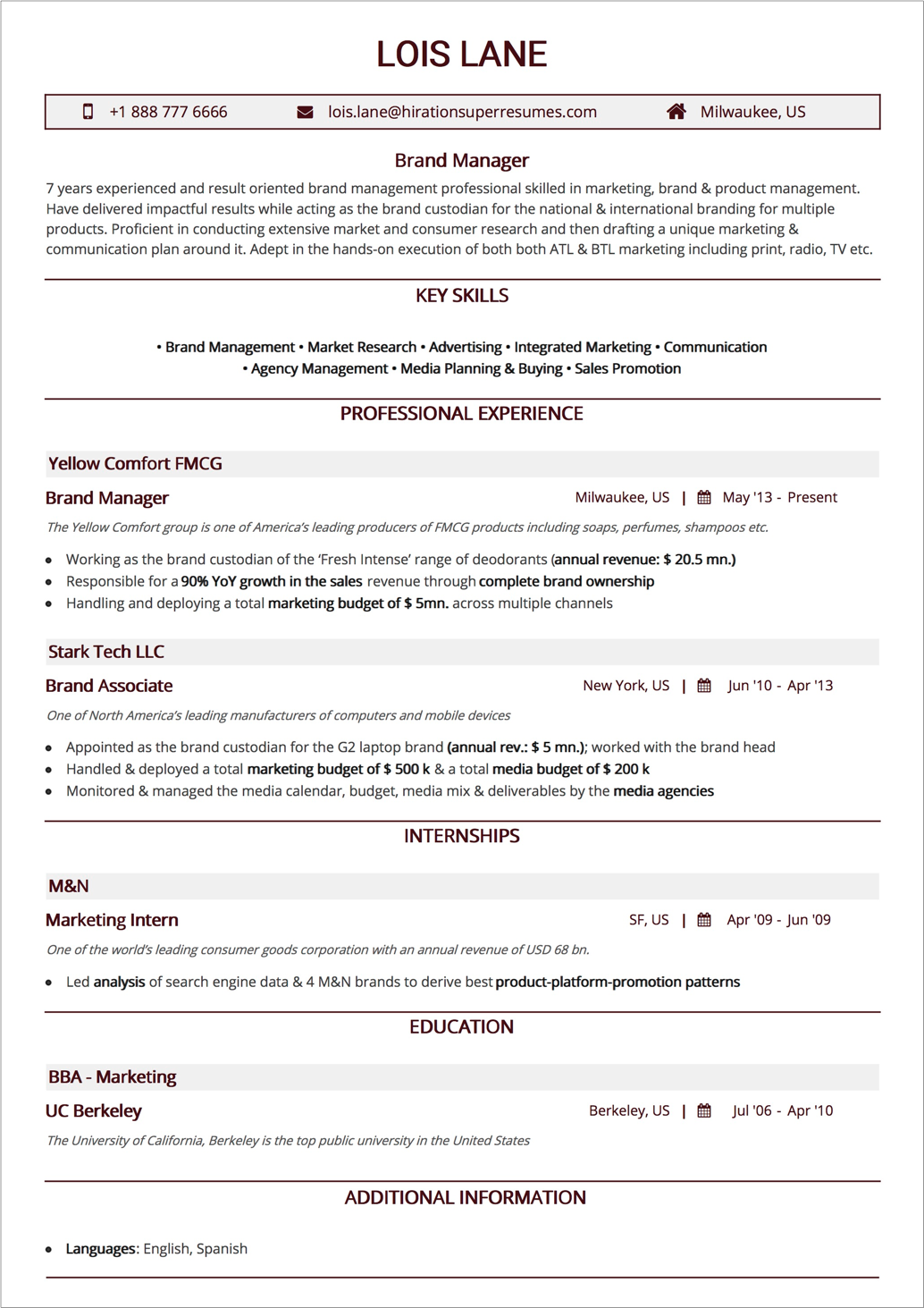 How To Craft The Perfect Web Developer Résumé — Smashing ...