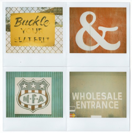 Wayfinding and Typographic Signs - vernacular-typography-polaroids-1