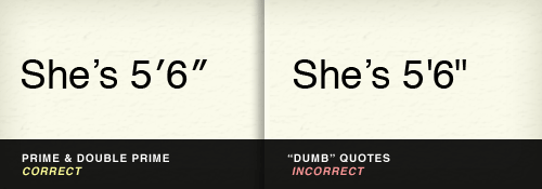 prime vs. dumb quotes