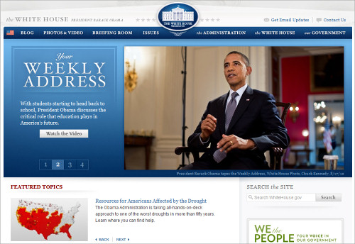The White House Homepage