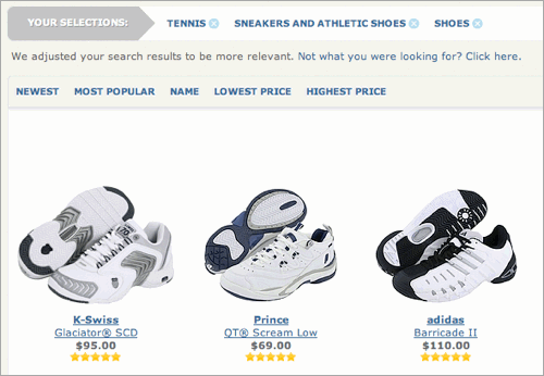 Zappos search