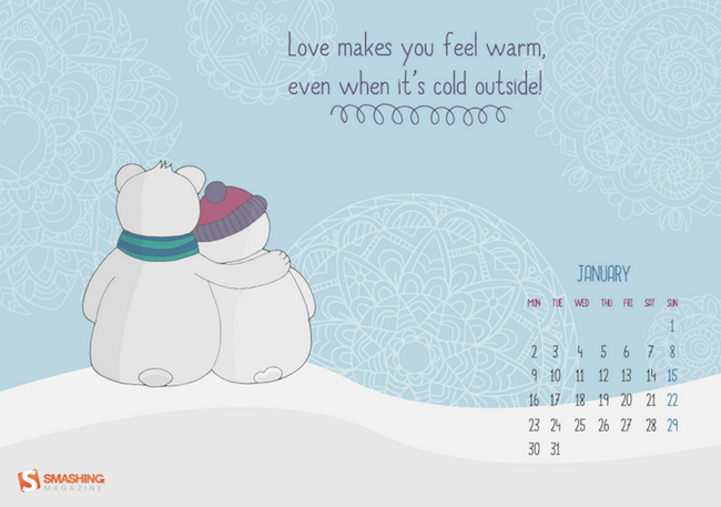 Love makes you warm!