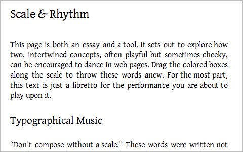 Useful Typography Resources - Typograph: Scale and Rhythm