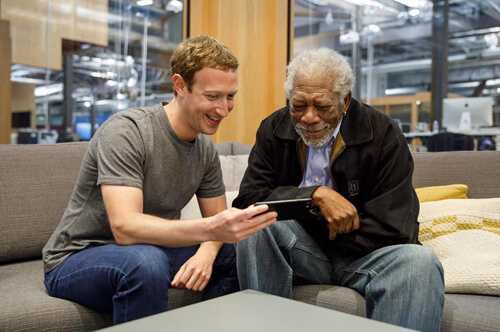 Mark Zuckerberg introduces Morgan Freeman to the AI that uses his voice