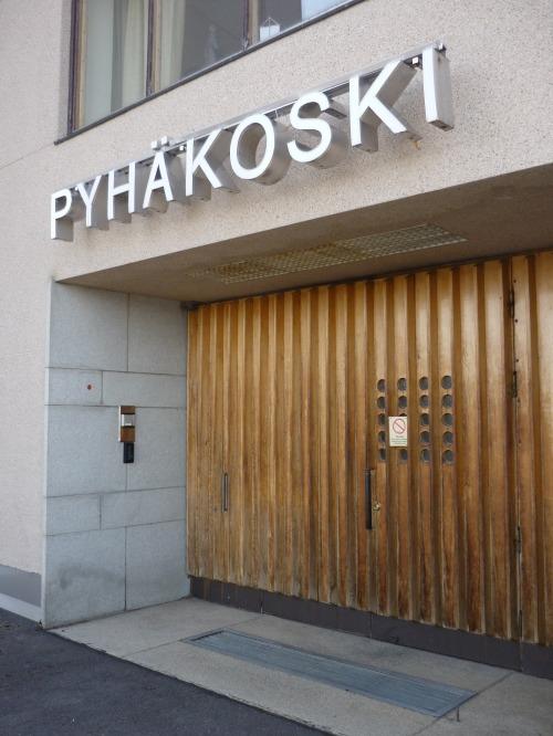Wayfinding and Typographic Signs - pyhakoski-hydroelectric-dam-signage