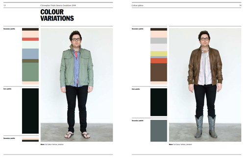 Chris Doyle's personal identity colour alternatives.