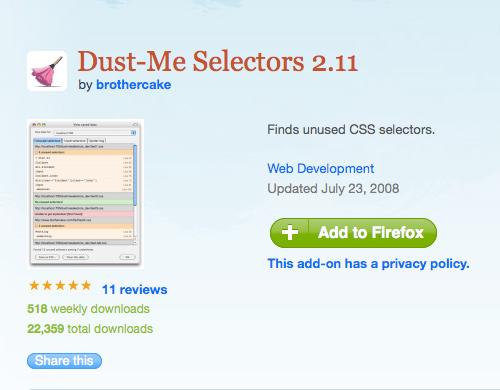 Dust-Me Selectors