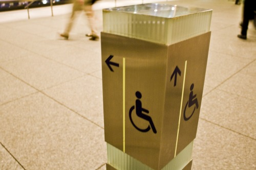 Wayfinding and Typographic Signs - handicapped-in-singapore